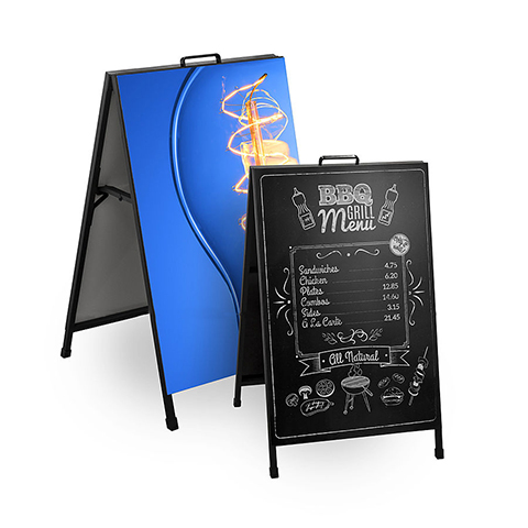 A Frame Signs With Printed Boards
